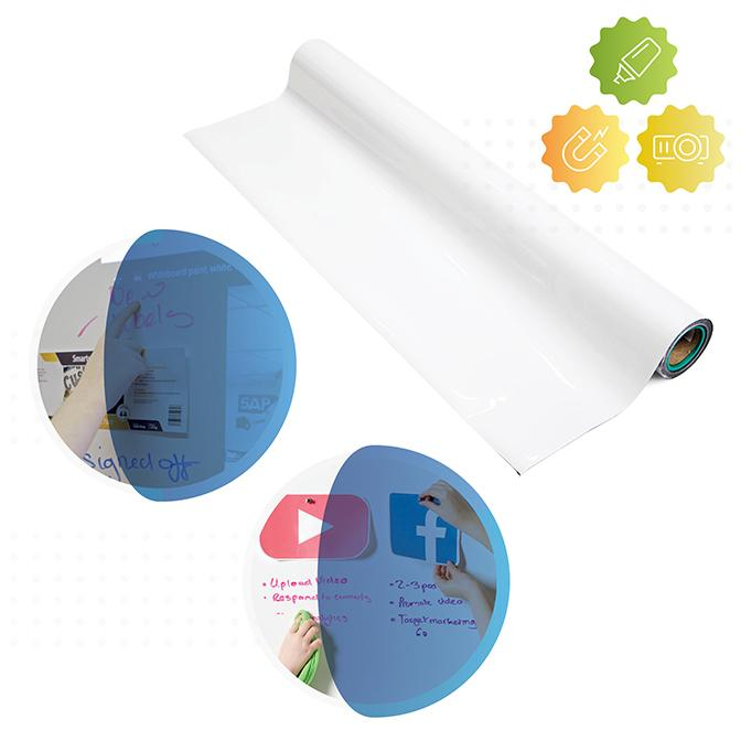 roll-of-Smarter-surfaces-smart-magnetic-whiteboard-wallpaper-projector